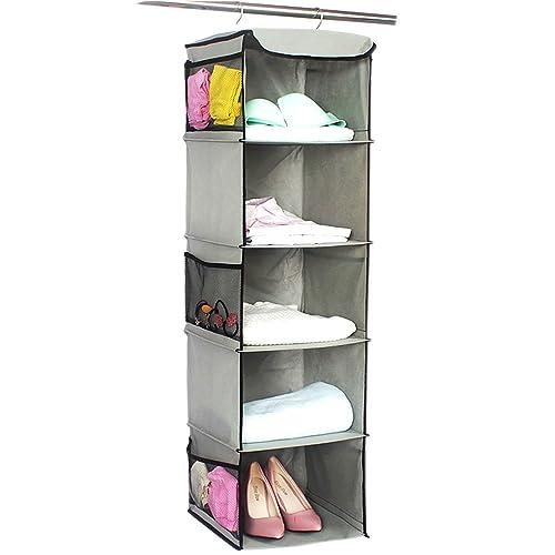 Organizador de ropa para armario - Estanteria colgante en tela para guardar y organizar articulos de
