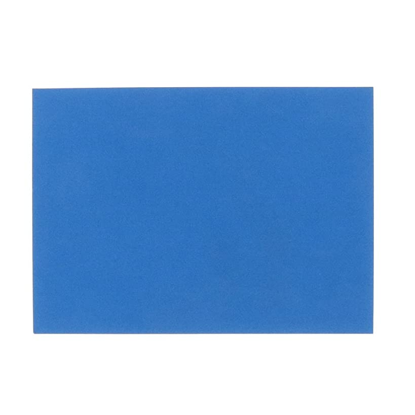 JAM PAPER Blank Flat Note Cards - 4 5/8 x 6 1/4 (Fits in A6 Envelopes) - Blue Linen - 100/Pack