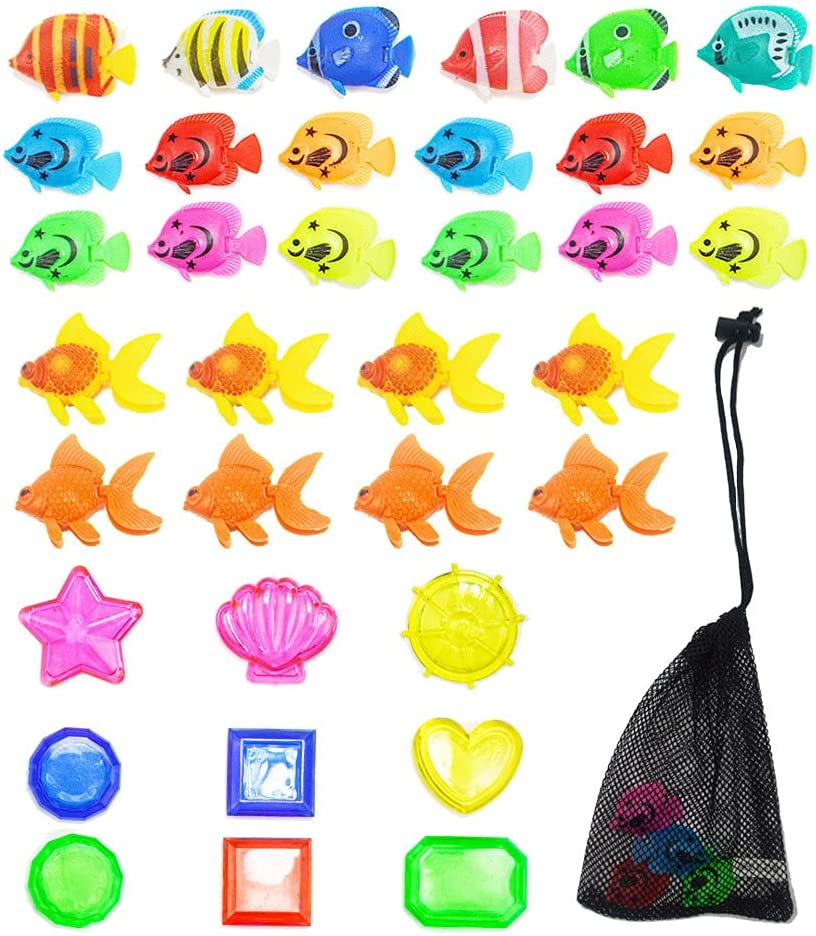 36 Pieces Bathroom Pool Toys Popular overseas Fish New Free Shipping Toy Diving Underwa Gems