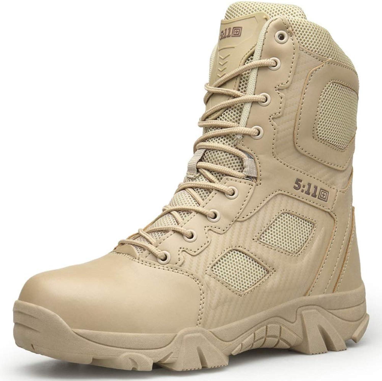 YYIN stövlar herr High skor läder Martin skor utomhus Desert Desert Desert Mountaineringaa Hiking Patrol Boot Military Combath Army Taktics stövlar Work Safety stövlar  det bästa nätbutikbjudandet