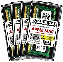 A-Tech 16GB Kit (4X 4GB) DDR3 1066MHz / 1067MHz PC3-8500 204-pin SODIMM for Late 2009 Apple iMac 21.5-inch / 27-inch - Memory RAM Upgrade