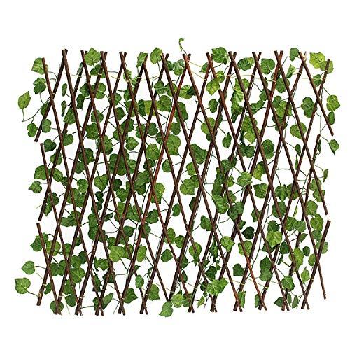 NLRHH Unreal Windbildschirm Blätter Fechten Wandgarten Terrasse Efeu Partition Ons DIY Peng