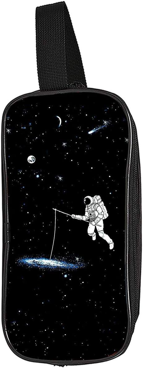 El Astronauta 3D de Gran Capacidad de lápiz del Bolso básico Lápiz Casos del diseño Simple Bolsa de Almacenamiento Unisex (Color : A12, Size : 24 X 11 X 7cm)