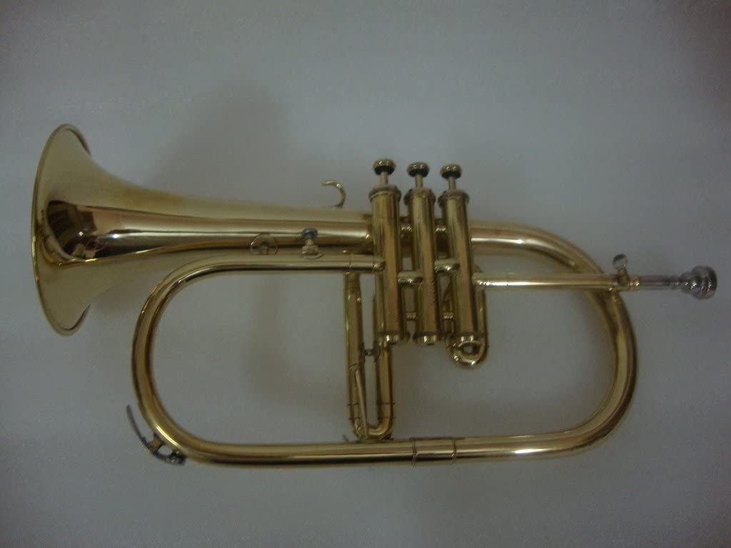 OSWAL Bb Flat Brass Finishing Flugel Free Selling Selling Hard With Case+Mo Horn