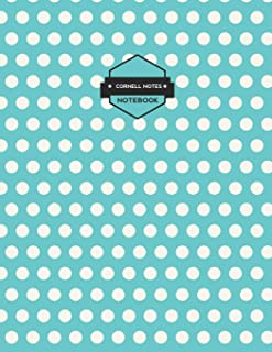 Cornell Notes Notebooks: Blue Polka Dot Notes Paper (Science and Math Guided School Notebooks)