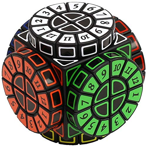 Khosd Magic Cube Cube Speed Puzzle Cube Suave Giro Juguete De Cubo (Negro)