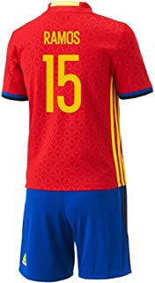 Adidas Ramos #15 Spain Home Mini Kit UEFA Euro 2016