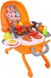 Bnineteenteam Pretend Play BBQ Playset,Grill Set with Carrying Case, Fun Play Sets for Boys & Girls ,39pcs/Set