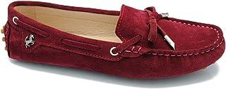 9af3a7082178b7 MINITOO Fille pour Femme décontracté Confortable en Daim Cuir Nœud des  Mocassins Bateau Chaussures Appartements