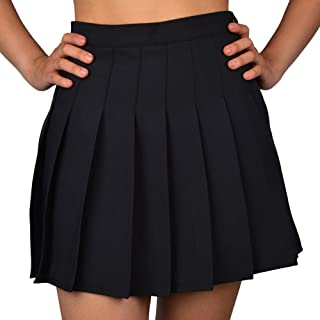 Women High-Waisted Pleated Mini Skirts with Soft Shorts Underneath