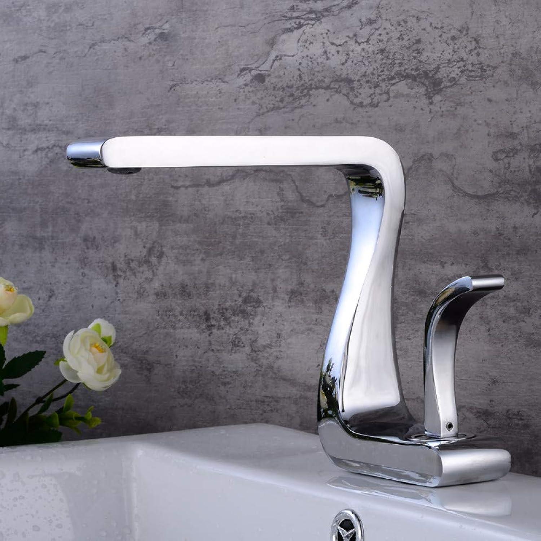 ZHFJGKR&ZL Spültischarmatur Waschbecken Bad Wasserhahn Wasserhahn Wasserfall Heie und kalte Wasserhahn Bad Becken