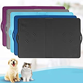 IMPAWFAN Silicone Pet Feeding Mat for Dogs and Cats, Waterproof Pet Food Mats Tray with Edges, Non Slip Dog Cat Bowl Mat f...