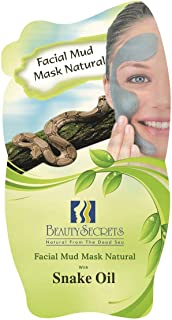 Beauty Secrets Natural Dead Sea Facial Mud Mask with Snake Oil 35g