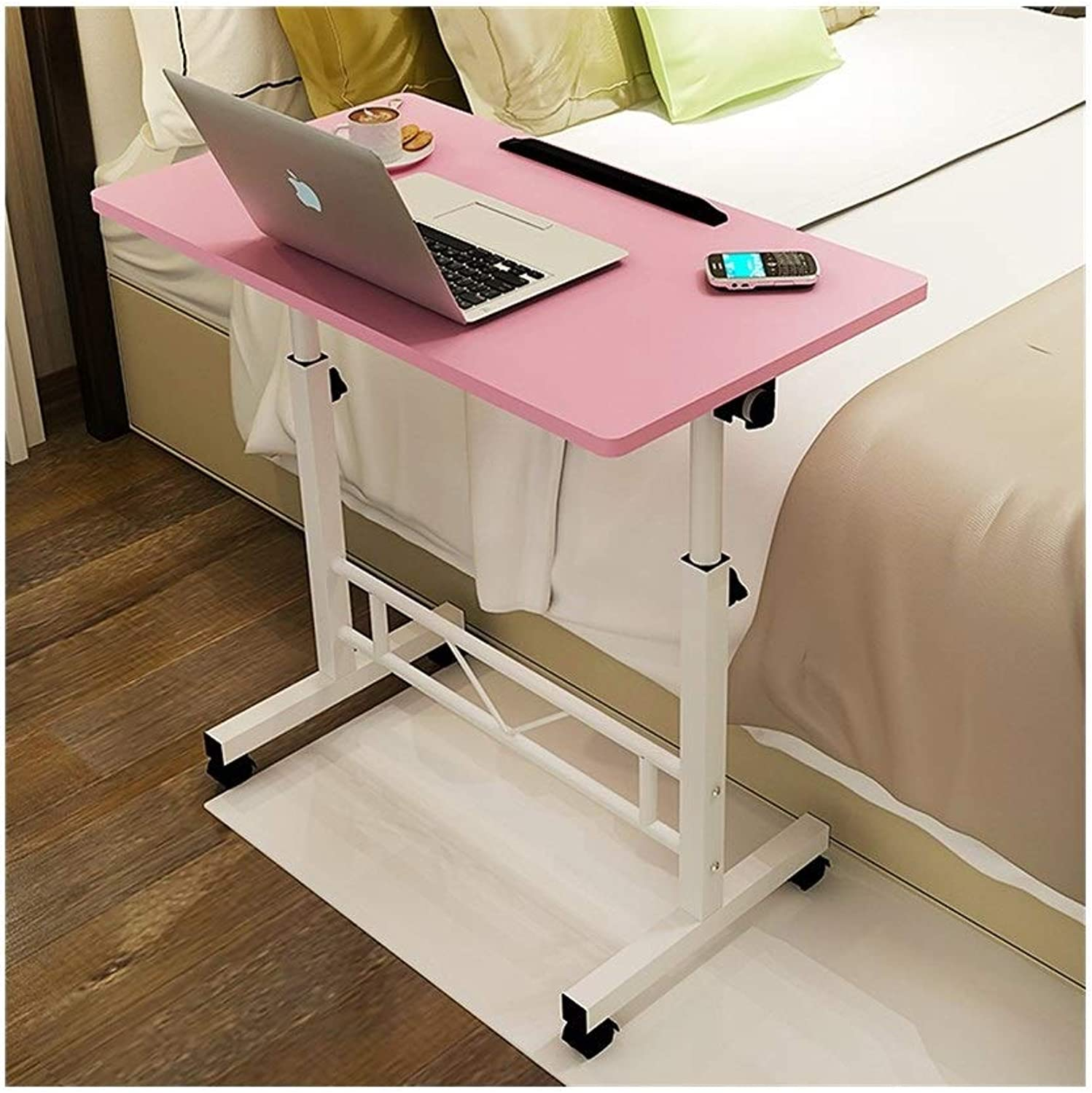 LQQGXLPortable Folding Table Movable Table Simple and Modern Practical Bed Removable Table (color   A)