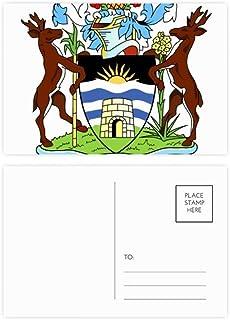 Juego de tarjetas postales de San Juan Antigua y Barbuda con emblema de cumpleaños, tarjeta de agradecimiento, 20 unidades