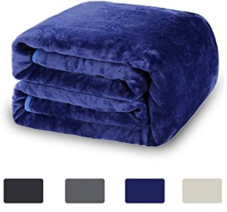 COSYJOY Luxury 330 GSM Woolen Blanket for Fall Winter Spring All Season Fleece Blanket Super Warm Soft Blanket Fuzzy Blanket Bed and Couch Blanket (King,Blue)