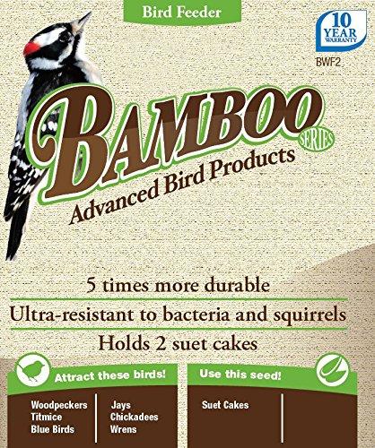 Nature's Way Bird Products BWF2 Bamboo Suet Upside-Down Bird Feeder