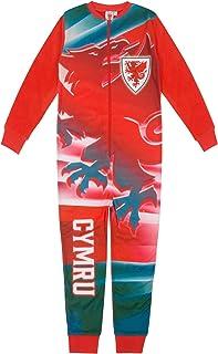 Wales Cymru chłopięca piżama wszystko w jednym piżama dziecięca FAW oficjalny prezent piłkarski