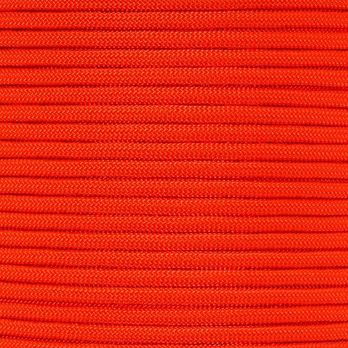PARACORD PLANET 10 20 25 50 100 Foot Hanks and 250 1000 Foot Spools of Parachute 550 Cord Type III 7 Strand Paracord Orange 10 Feet