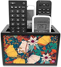 Nutcase Beautiful Flower Design Wooden Multipurpose Remote Holder