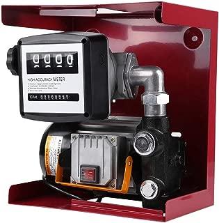 Qiilu Electric Oil Diesel Fuel Transfer Pump Assembly W Meter 13' Hose Manual Nozzle 110V