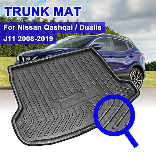 TDPQR Auto Kofferraummatte für Nissan Qashqai Dualis J11 2008-2019, Kofferraumschutzdecke Wasserdichter rutschmatte Schmutzfangmatte, Zubehör für die Innenausstattung von Kraftfahrzeugen