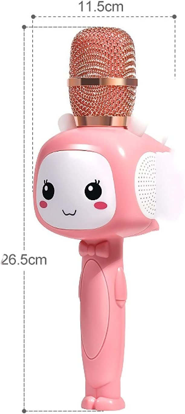 Kinderzangmachine Met Microfoon All-in-one Draadloze Karaokemicrofoon Thuis Roze pakket Groen pakket