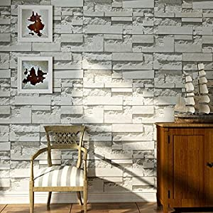 Bazaar Brick Pattern Textured Non-woven Wallpaper Sticker Background Home Decoration