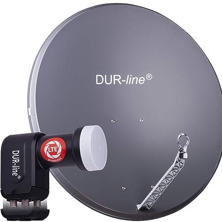 Dur Line 4 Teilnehmer Set Qualitäts Alu Satelliten Komplettanlage Elektronik
