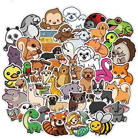 Natural Animal Water Bottles Stickers 50PCS Cute Animal World Waterproof Vinyl Stickers Laptop product image