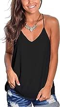 Dressmine Womens Summer Racerback V Neck Tank Tops Loose Sleeveless Shirts Tunic Tops