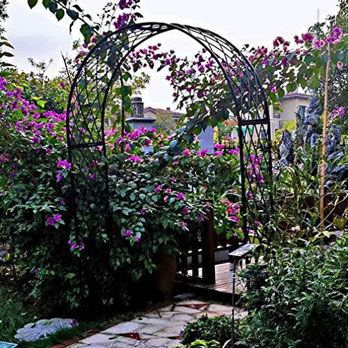 S-AIM Arco de Entrada al jardín del cenador para Plantas trepadoras Rosas Enredaderas Arco de Boda decoración de Fiesta Nupcial