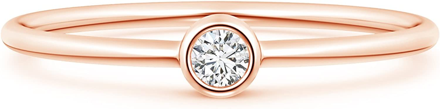 Solitaire Lab Created Round Diamond Quality Complete Free Shipping inspection Solid Stackable 14k in Ring