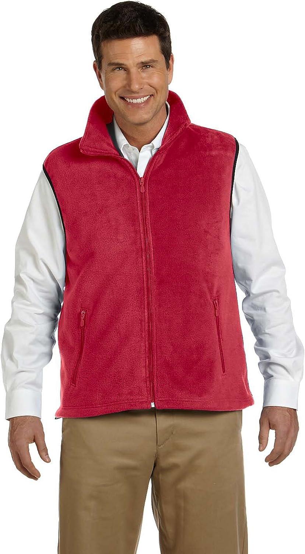 Harriton Adult 8 oz Fleece Vest - RED - XL - (Style # M985 - Original Label)