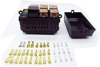 CNKF 1 set car insurance fuse box 12-Slot Relay Box, Holder Block with 41pcs Metallic Pins Automotive and Marine Use