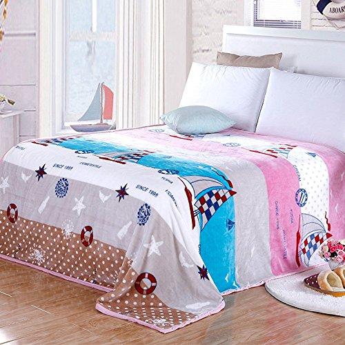 Global- Moderne minimaliste laine couverture été Double serviette de flanelle épaisse molleton draps Blanket couvertures climatisation couverture (taille : 200 * 230cm)