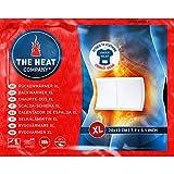 THE HEAT COMPANY Calentador de Espalda XL - 3 piezas - EXTRA CÁLIDO - adhesivo - Calentador Cuerpo XL - 18 horas de calor acogedor - calor instantáneo - activado por aire - puro natural
