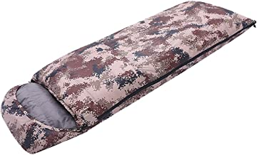 TSSM Camouflage Camping Sleeping Bag,Portable Envelope Sleeping Bag Comfort with Compression Sack Ideal Camping Gear for Hiking and Backpacking