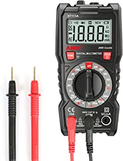 AIRIC Digital Multimeter, 2000 Counts Multimeters AC/DC voltmeter Ammeter with Voltage, AC Current, Amp, Volt, Ohm, Diode and Resistance Test Tester (MANUAL)