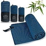 Outdoro Reisehandtuch mit Bambus Kohle Ultra-leicht & saugfähig - komfortabler als Mikrofaser-Handtücher