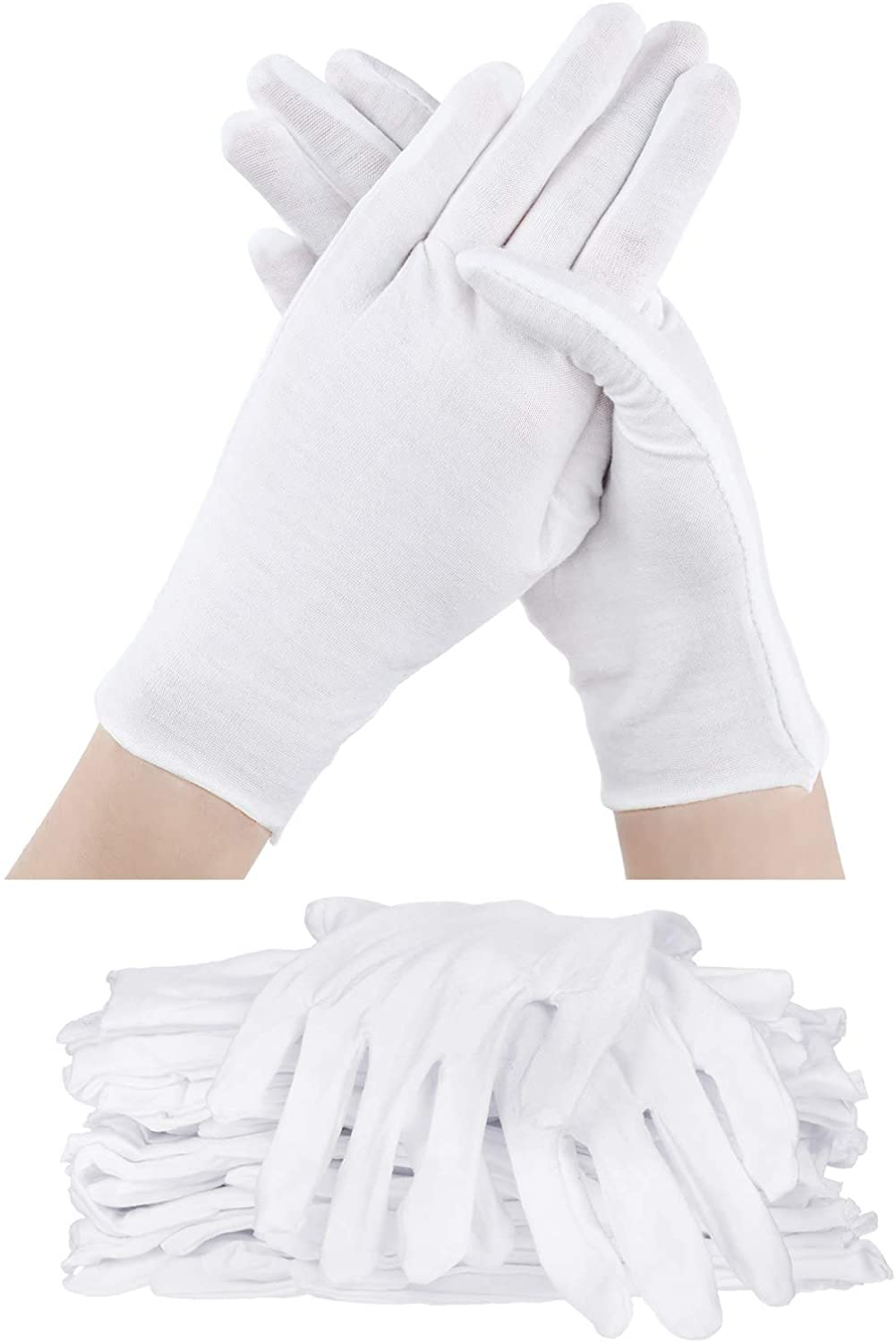 60 Pieces Glove Soft Stretchy Working Glove Costume Reusable Large Mitten