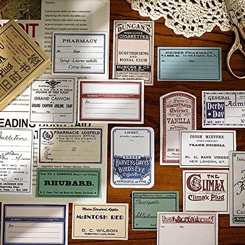 PMSMT Etiquetas engomadas de Papel grabables Antiguas Creativas de la Vendimia decoración DIY álbum Diario Etiqueta de Scrapbooking Pegatinas de papelería