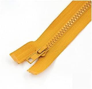 CHAHANG Resin Opening Zipper Women's Jacket Down Jacket Children's Zipper 40cm-70cm Multiple Colors to Choose from Zipper Head Accessories Detachable Zipper Clothes (Color : Yellow 2, Size : 40cm)
