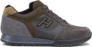 Hogan Scarpe da Uomo H321 HXM3210Y860HT829Z Sneakers Sportive Running in Pelle Camoscio Grigio Verde Comodo Casual Tempo L...