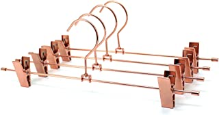 10Pack Koobay 35cm Gold Shiny Copper Finish Metal Stainless Steel Bottom Adjustable Clips Pants Trousers Suit Hanging Hangers