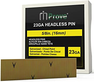 MProve 23 Gauge Pin Nails - Headless Galvanized Pins 5/8 in (16mm) [10,000 Nails]
