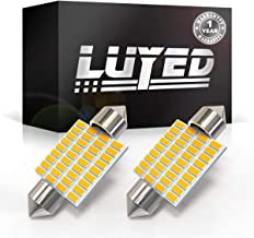 LUYED 2 X 430 Lumens Super Bright 3014 36-EX Chipsets 1.5 inches 36mm 6418 DE3423 DE3425 LED Bulbs Used For Dome light,Warm White