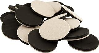 Super Sliders 4733495N Movers & Sliders for Heavy Furniture for Hard Floor Surfaces Value Pack (20 Pack) -Felt Round Super...