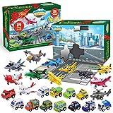 JOYIN 2020 Advent Calendar Kids Christmas 24 Days Countdown Calendar Toys for Kids with Pull-Back Aircraft and Vehicles