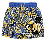 Universal Studio Minions Toddler Boys Swim Bathing Suit Blue/Yellow 4T
